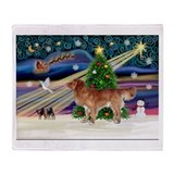XmasStar/Nova Scotia dog Throw Blanket