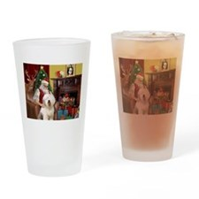 Santa's Old English #6 Drinking Glass