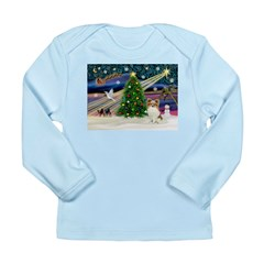 Xmas Magic Papillon (f) Long Sleeve Infant T-Shirt