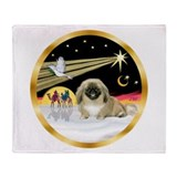 Wisemen/Pekingese Throw Blanket