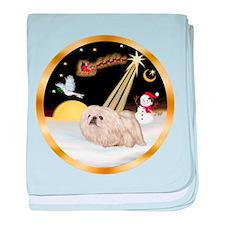 Night Flight/Pekingese baby blanket
