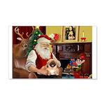 Santa's Pekingese (#1rd) 22x14 Wall Peel