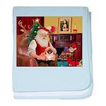 Santa's Pekingese (#1rd) baby blanket