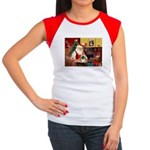 Santa's Pekingese (#1b) Women's Cap Sleeve T-Shirt