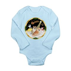 Night Flight/2 Pomeranians Long Sleeve Infant Body