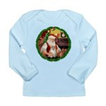 Santa's Pomeranian #1 Long Sleeve Infant T-Shirt