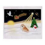 Night Flight/Pomeranian Throw Blanket