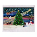 XmasMagic/Pomeranian (RW) Throw Blanket