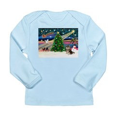 XmasMagic/Pom (prti) Long Sleeve Infant T-Shirt