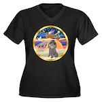 XmasStar/Silver Poodle #8 Women's Plus Size V-Neck