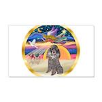 XmasStar/Silver Poodle #8 22x14 Wall Peel