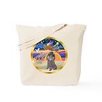 XmasStar/Silver Poodle #8 Tote Bag