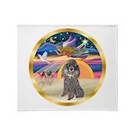 XmasStar/Silver Poodle #8 Throw Blanket