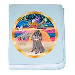 XmasStar/Silver Poodle #8 baby blanket