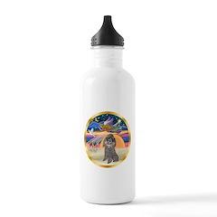 XmasStar/Silver Poodle #8 Water Bottle