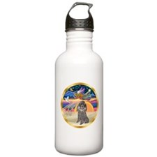 XmasStar/Silver Poodle #8 Water Bottle