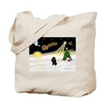 Night Flight/Poodle (min) Tote Bag