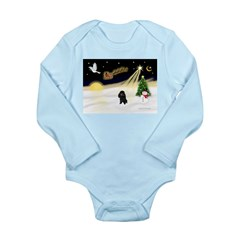 Night Flight/Poodle (min) Long Sleeve Infant Bodys