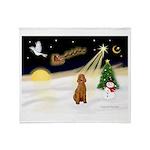 Night Flight/Apricot Poodle ( Throw Blanket