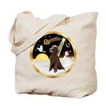 Night Flight/Poodle Std(choc) Tote Bag