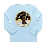 Night Flight/Poodle Std(choc) Long Sleeve Infant T