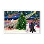 XmasMagic/2 Poodles (st) 22x14 Wall Peel