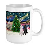 XmasMagic/2 Poodles (st) Large Mug