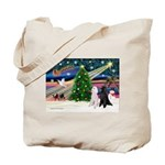XmasMagic/2 Poodles (st) Tote Bag
