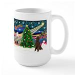 XmasMagic/Poodle (ST-ch) Large Mug