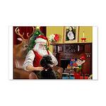 Santa's Poodle (ST-B4) 22x14 Wall Peel