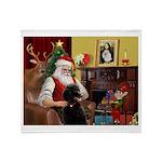 Santa's Poodle (ST-B4) Throw Blanket