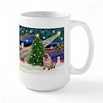 Xmas Magic & Pug Large Mug