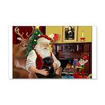 Santa's Black Pug 22x14 Wall Peel