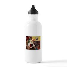Santa's Black Pug Water Bottle
