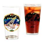 XmasSunrise/Pug Drinking Glass