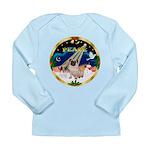 XmasSunrise/Pug Long Sleeve Infant T-Shirt