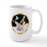 Night Flight/ Pug Large Mug