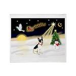 Night Flight/Rat Terrier Throw Blanket