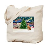 XmasMagic/Rhodesian RB Tote Bag