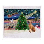 XmasMagic/Rhodesian RB Throw Blanket