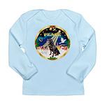 XmasSunrise/Rottweiler Long Sleeve Infant T-Shirt