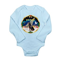 XmasSunrise/Rottweiler Long Sleeve Infant Bodysuit