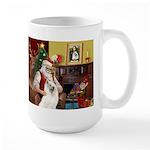 Santa's Samoyed Large Mug