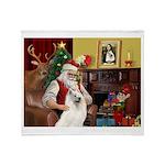 Santa's Samoyed Throw Blanket