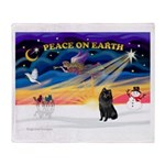 XmasSunrise/Schipperke Throw Blanket