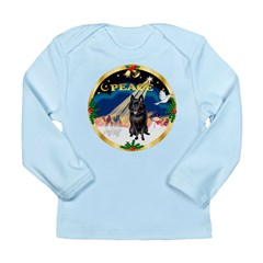 XmasSunrise/Schipperke Long Sleeve Infant T-Shirt