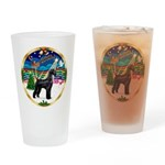 XmasMusic 3/Schnauzer Giant Drinking Glass