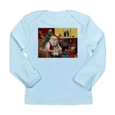 Santa's Mini Schnauzer Long Sleeve Infant T-Shirt