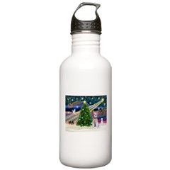 XmasMagic/Schnauzer (W) Stainless Water Bottle 1.0