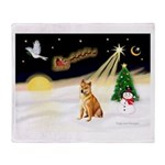 Night Flight/Shiba Inu Throw Blanket